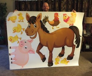 Mark with pig and horse 6
